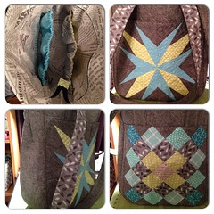 My #ssm4 #sewsewmodern partner's @noodlehead531 super tote is finished!
