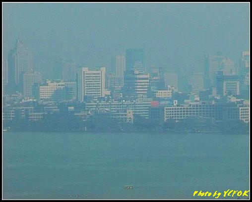 杭州 西湖 (其他景點) - 348 (從西湖十景之 雷峰塔上鳥瞰西湖的湖濱路湖畔及市區)