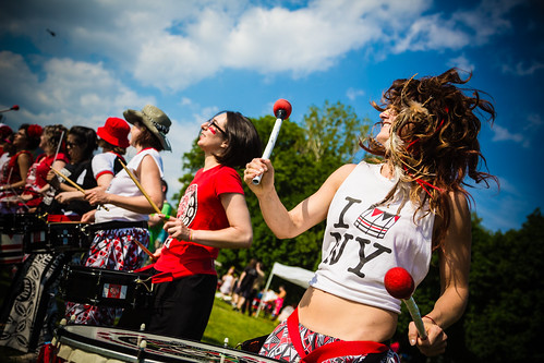Photo ©2013 Stefano Corso. Batala NYC, All Women Afro-Brazilian Drum Band, FIGMENT NYC