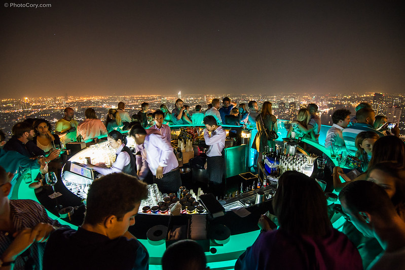 sirocco sky bar in Bangkok