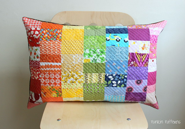 Scrappy Rainbow pillow