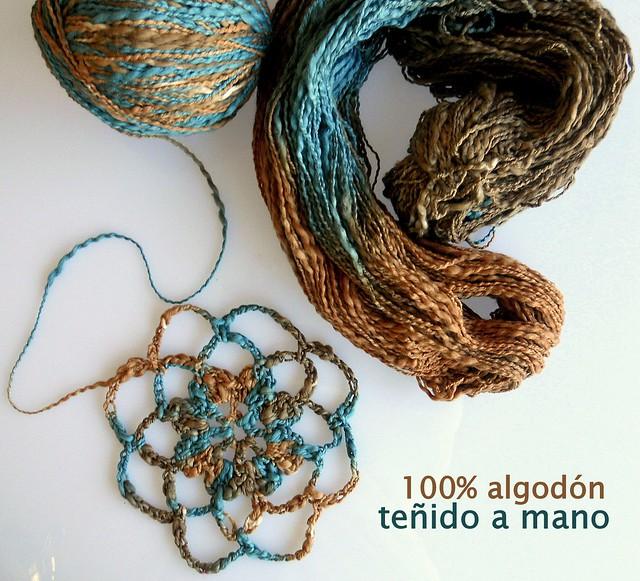 100%algodón teñido a mano