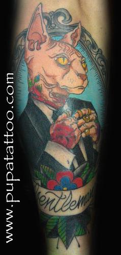 Tatuaje Gato, Pupa Tattoo, Granada by Marzia PUPA Tattoo