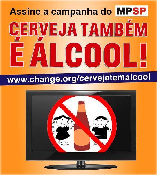 """Secretaria da Justiça adere a campanha """"Cerveja Também é Álcool"""", do Ministério Público de São Paulo,"""