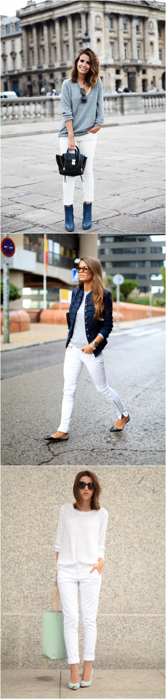 pantalones blancos bloggers