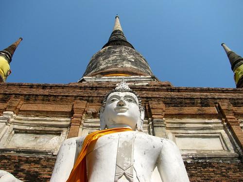 Buda en Wat Yai Chaya Mongkol