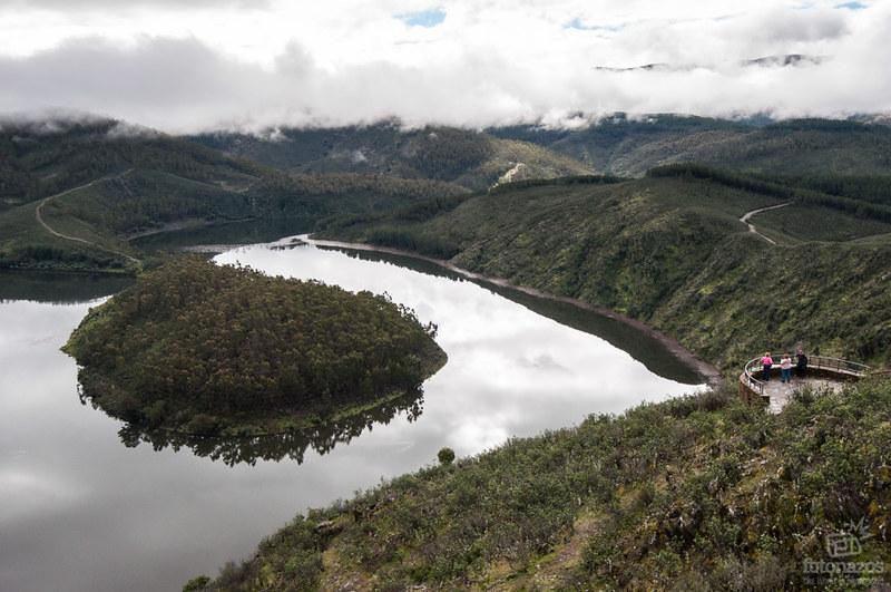 El Meandro Melero desde el Mirador de la Antigua en las Hurdes