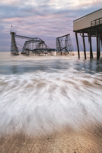 ocean sky seascape motion beach water metal sunrise print landscape outdoors photography photo newjersey scenery gallery unitedstates image cloudy hurricane fineart stock scenic nj picture atlantic canvas damage rollercoaster jetstar jerseyshore seasideheights naturaldisasters mikeorso hurricanesandy