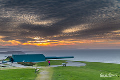 Bonita puesta de sol en Coruña
