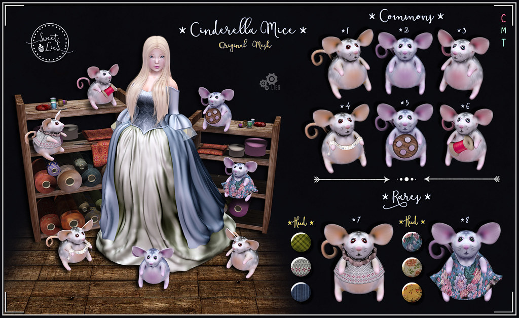 Cinderella Mice Gacha - Sweet Lies Original - SecondLifeHub.com