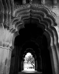 Lotus Mahal, also known as Kamal Mahal or Chitrangini Mahal is situated in the Zenana Enclosure of the monuments. The base of the structure depicts a Hindu foundation of stone just like in the temples, typical of Vijayanagara Architecture while the upper