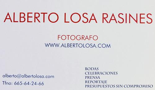 tarjeta alberto losa 7