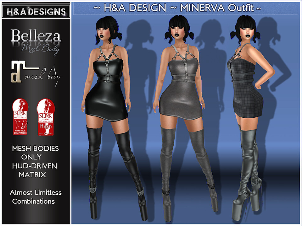 H&A Designs Minerva Outfit - SecondLifeHub.com