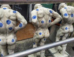 Blueberry Butts... #blueberrybutts #blueberry #blueberryfestival #brooksville #statues #concrete #sculpture #blueberries #art #frozen #christophermcguirkphotography #instagood #instadaily #instalike #photo #photooftheday #photography #artistic #men #paint