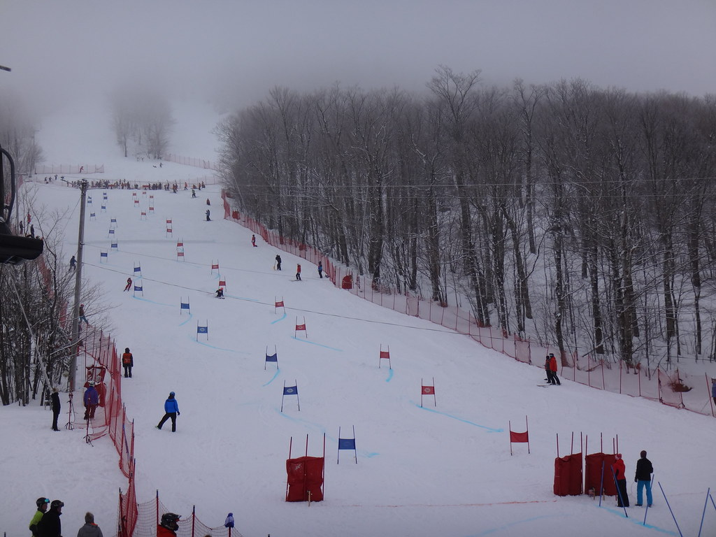 Slalom race at Mont Sutton