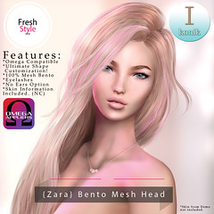 **NEW** -Ikonik- Zara Bento Head
