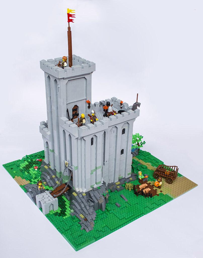 The three towers keep (custom built Lego model)