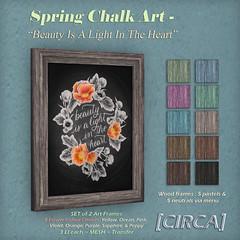 Spring Chalk Art - Beauty Is A Light In The Heart