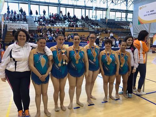 Club Deportivo Anidi en el campeonato de España de gimnasia rítmica para personas con discapacidad intelectual
