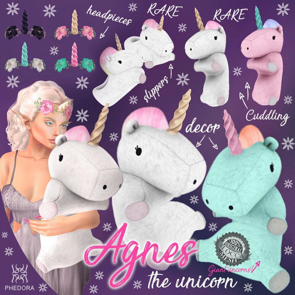 "Phedora. for N21- ""Agnes the Unicorn"" gacha! - SecondLifeHub.com"