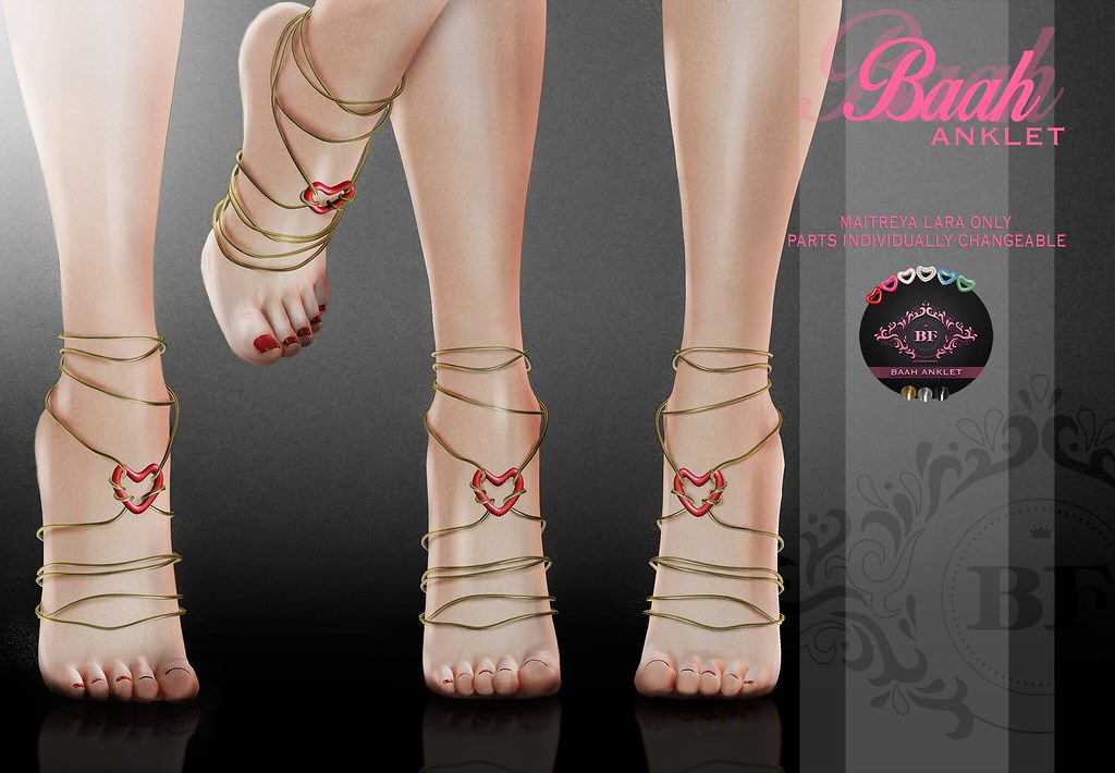 .BF. Baah Anklet at. Fameshed - SecondLifeHub.com