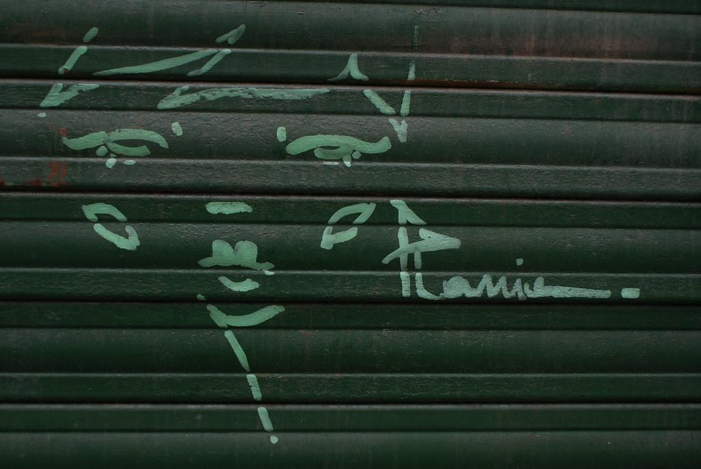 Street art à Gênes : Portrait de femme.