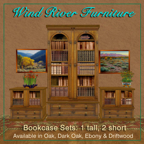 3 Bookcase Set in 4 Finishes by Teal Freenote