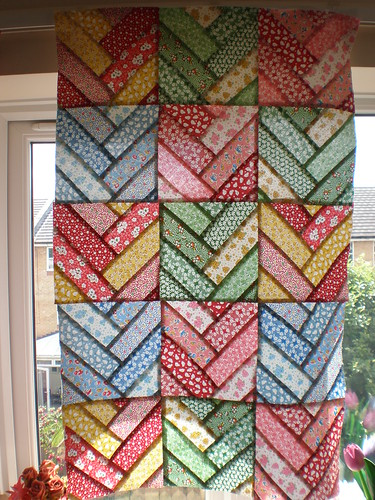 Illuminated Patchwork Quilt Top