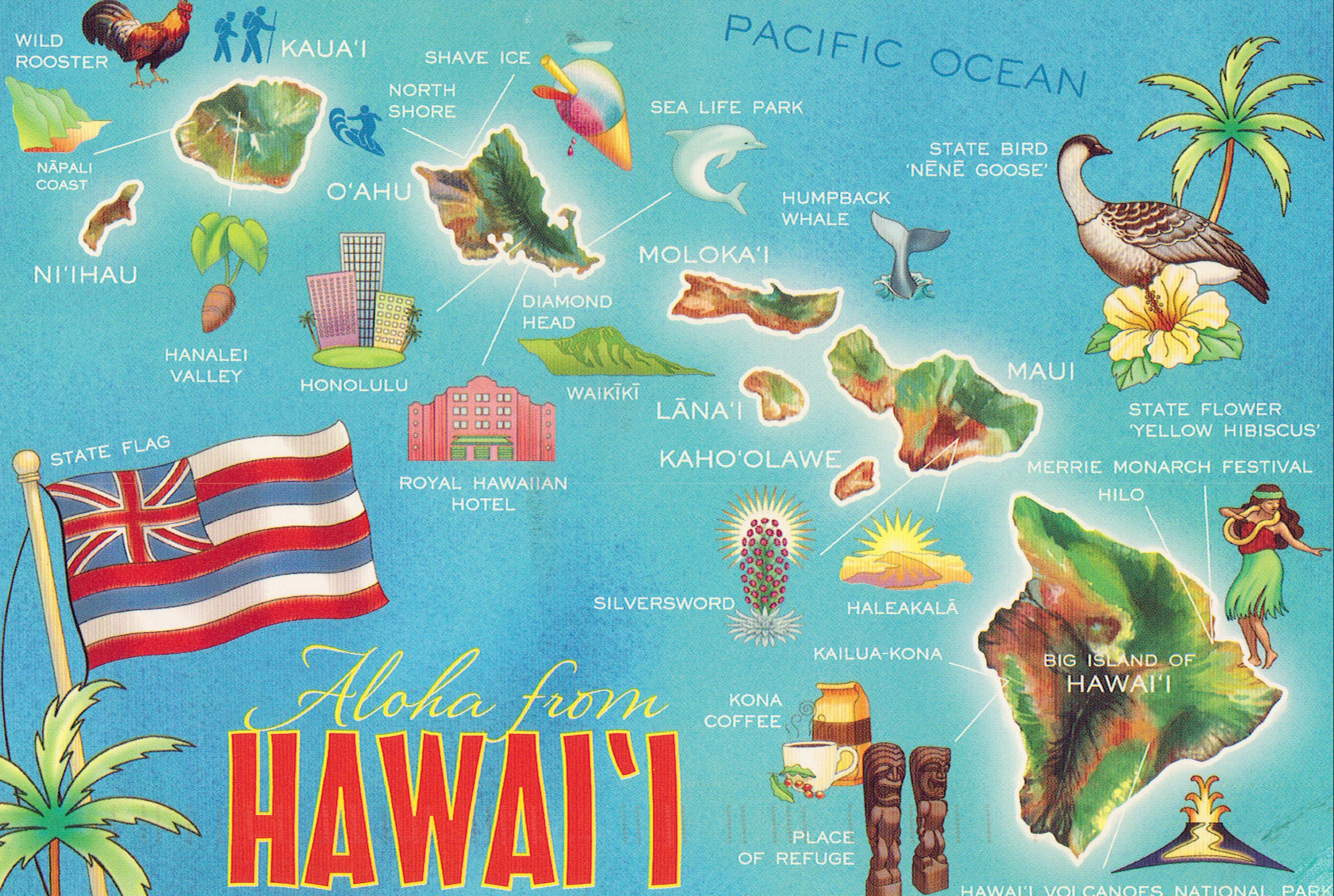 Hawaii map by katiebecck via Flickr  Hawaii  Pinterest  Hawaii