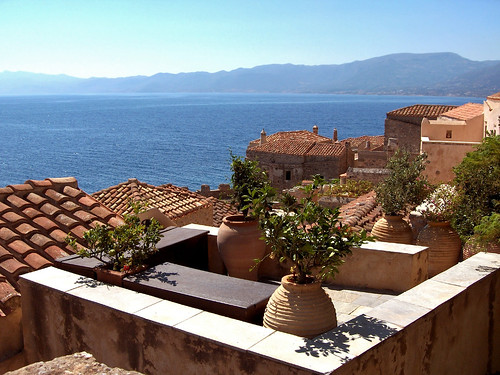 Monemvasia Roof View, Greece
