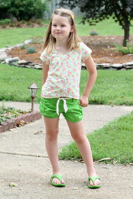 Siestas And Sewing Hula Hoop Shorts