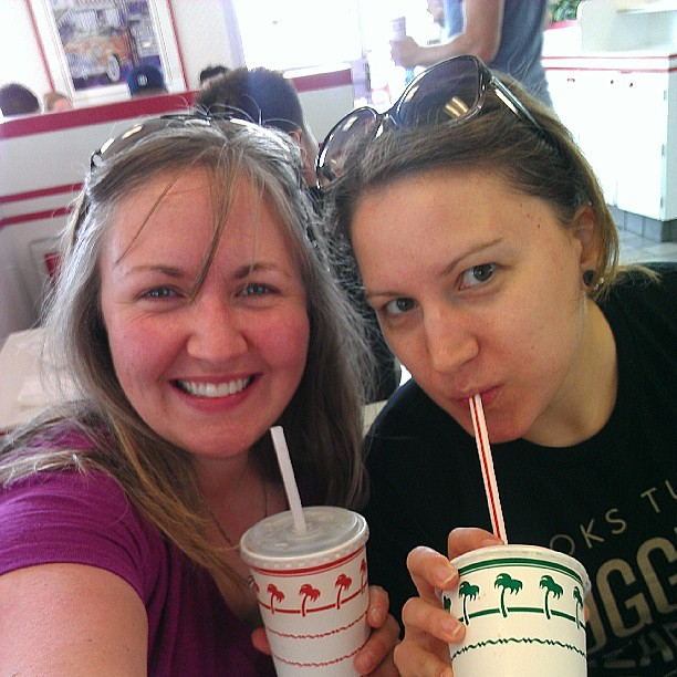 Traditional last-meal-in-California-before-going-to-the-airport at In-N-Out. We'll miss you, Jen! Come back soon!