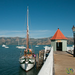Akaroa Dock and Sailboat - New Zealand