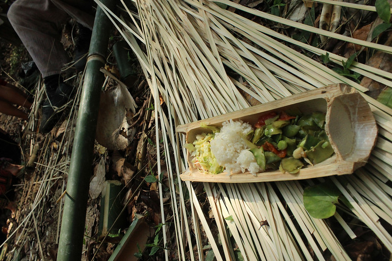 Bamboo cutlery and dish from Thailand