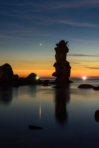 sunset japan ngc 日本 shimane matsushima 島根県 マジックアワー ohda シンメトリー 漁り火 大田市 掛戸松島