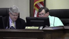 County Chairman Bill Slaughter noticing Mayor Gayle