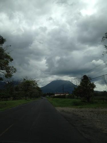 Arenal volcano ahead