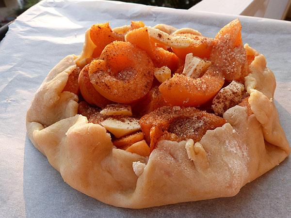 tarte abricots crue