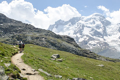 Hiking on one of Zermatt's walking trails