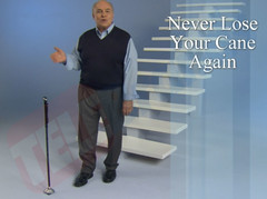 Trusty Cane stands next to you