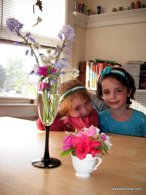 Twins-with-thier-fresh-picked-flowers