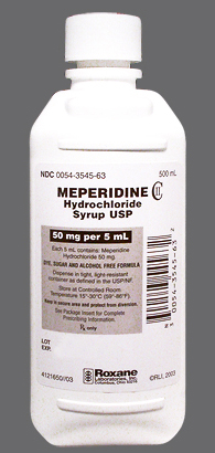 meperidine oral solution 50mg/ml Roxane
