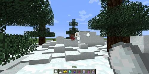 Minecraftで雪合戦2013-03-30