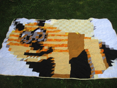 Bee Quilt Finish