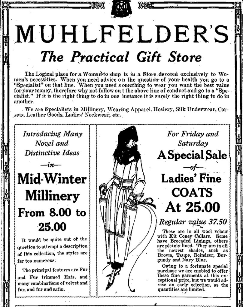 muhlfelders women's clothing store albany ny early 1900s