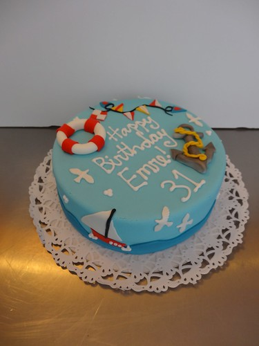 Nautical themed Birthday Cake by CAKE Amsterdam - Cakes by ZOBOT