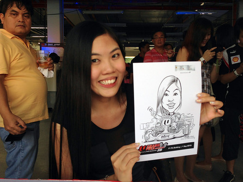 caricature live sketching for NTUC U Grand Prix Experience 2013 - 4
