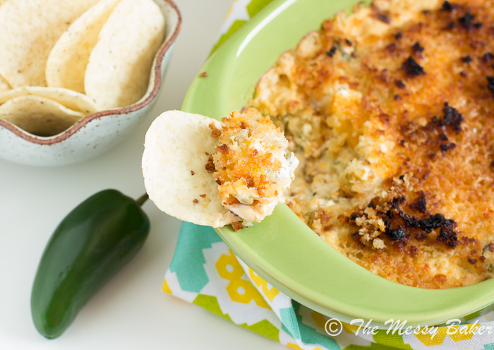 Grilled Jalapeno Popper Dip | www.themessybakerblog.com -8446
