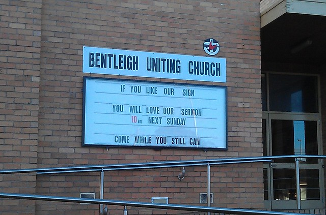 Bentleigh Uniting Church: Come while you still can