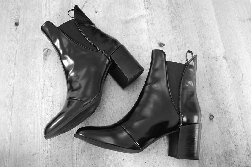 Zara patent ankle boots